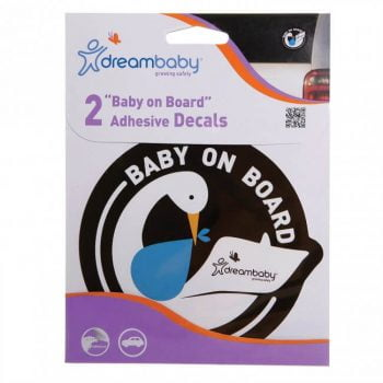 Dreambaby Adhesive Baby On Board Sign (2 Pack) - Blue