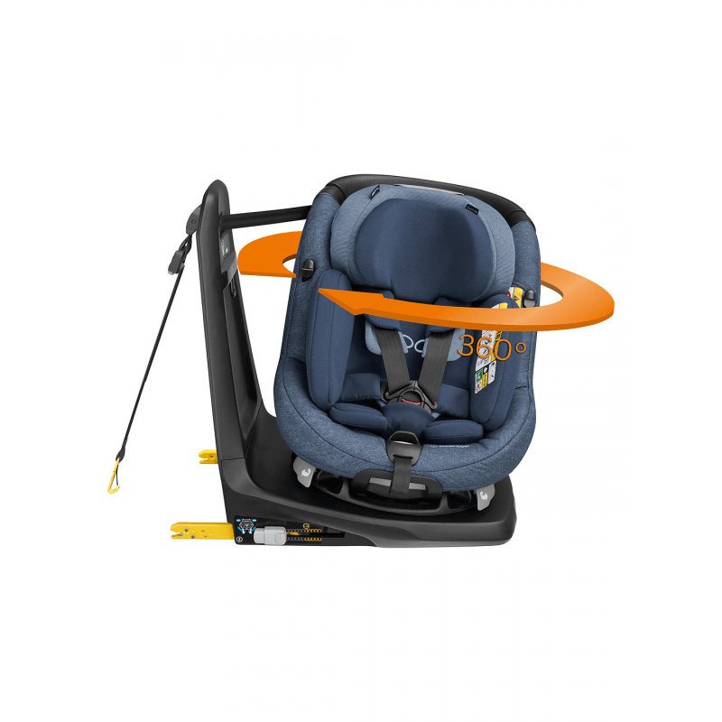 Maxi-Cosi AxissFix Plus i-Size Group 0+/1 Car Seat - Nomad Blue 10