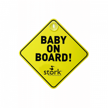 Stork Child Care Baby On Board Sign