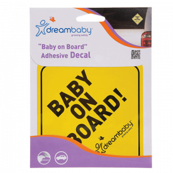 Dreambaby Adhesive Baby On Board Sign