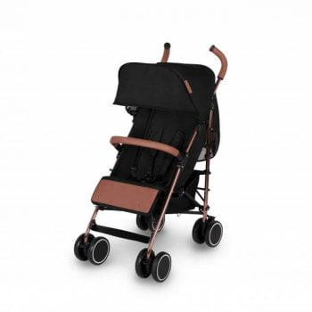 Ickle Bubba Discovery Stroller - Black/Rose Gold