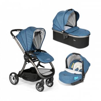 Tutti Bambini Arlo Charcoal Travel System - Midnight Blue