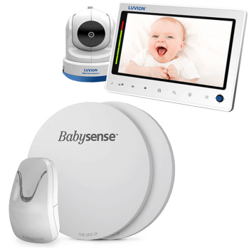 Babysense 7 Baby Breathing Monitor and Luvion Prestige Touch 2 Video Baby Monitor