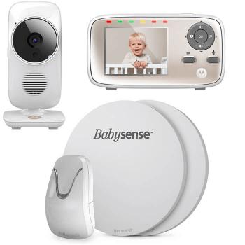 Babysense 7 Baby Breathing Monitor and Motorola MBP667 WiFi Video Baby Monitor