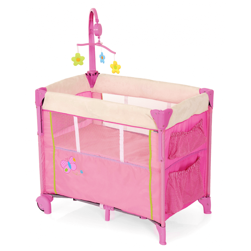 Hauck-Dream-N'-Care-Center-Travel-Cot-Butterfly 1