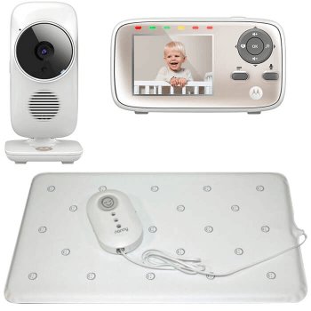 Nanny Baby Breathing Monitor and Motorola MBP667 Wi-Fi Video Baby Monitor