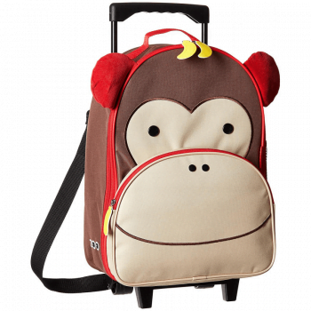 Skip- Hop-Zoo-Kids-Rolling-Luggage-Monkey-Suitcase-Travel-Bag-Wheel-On-Case-Kids-Luggage-Child-Lugagge