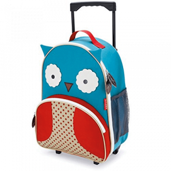 Skip- Hop-Zoo-Kids-Rolling-Luggage-Owl-Suitcase-Travel-Bag-Wheel-On-Case-Kids-Luggage-Child-Luggage