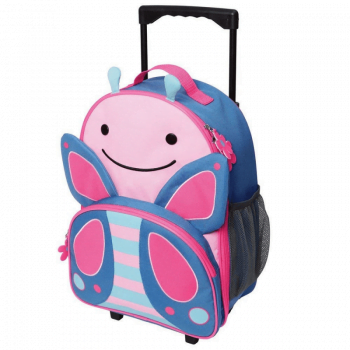Skip Hop Zoo Rolling Luggage - Butterfly