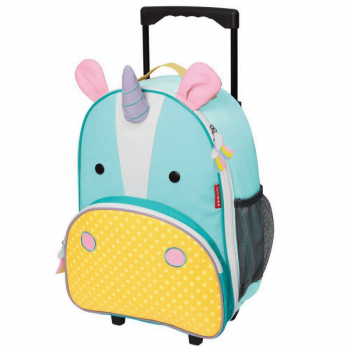 Skip Hop Zoo Rolling Luggage - Unicorn