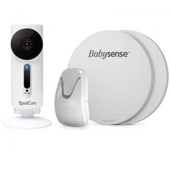 SpotCam Sense HD Wi-Fi Baby Monitor Camera and BabySense 7 Non-Contact Infant Movement Monitor