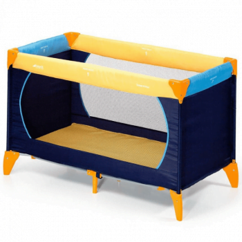 hauck-yellow-travel-cot-bassinet-playpen-foldable-cot