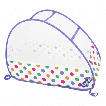 pastel-polka-bubble-travel-cot-by-koo_di-travel-bassinet 2