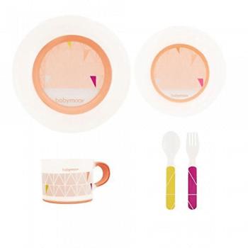 Babymoov Anti-Slip Feeding Set – Peach