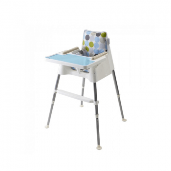 Beaba Cube Multifunctional High Chair - White & Turquoise