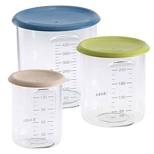 Beaba Set of 3 Conservation Jars - Assorted Colours 1