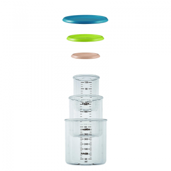 Beaba Set of 3 Conservation Jars - Assorted Colours