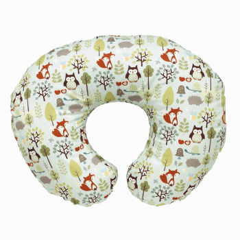 Boppy Cotton Nursing Feeding Pillow - Woodsie