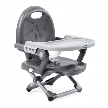 Chicco Pocket Snack Booster Seat Highchair – Dark Grey