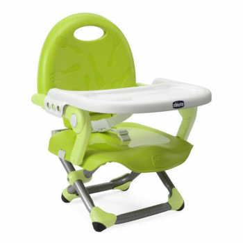 Chicco Pocket Snack Booster Seat Highchair - Lime Green