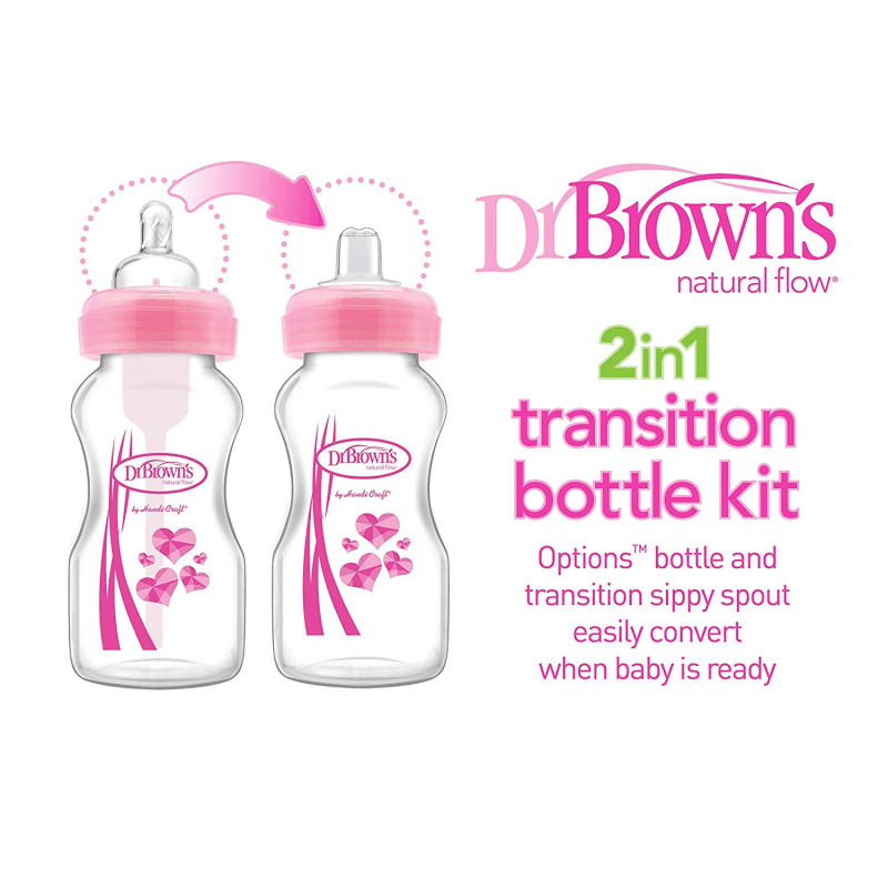Dr Browns Options 2 Count Wide-Neck Baby Bottle Sippy Spout