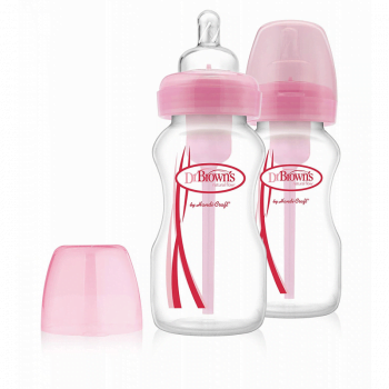 Dr Brown's Options Bottle Twin Pack 270ml - Pink