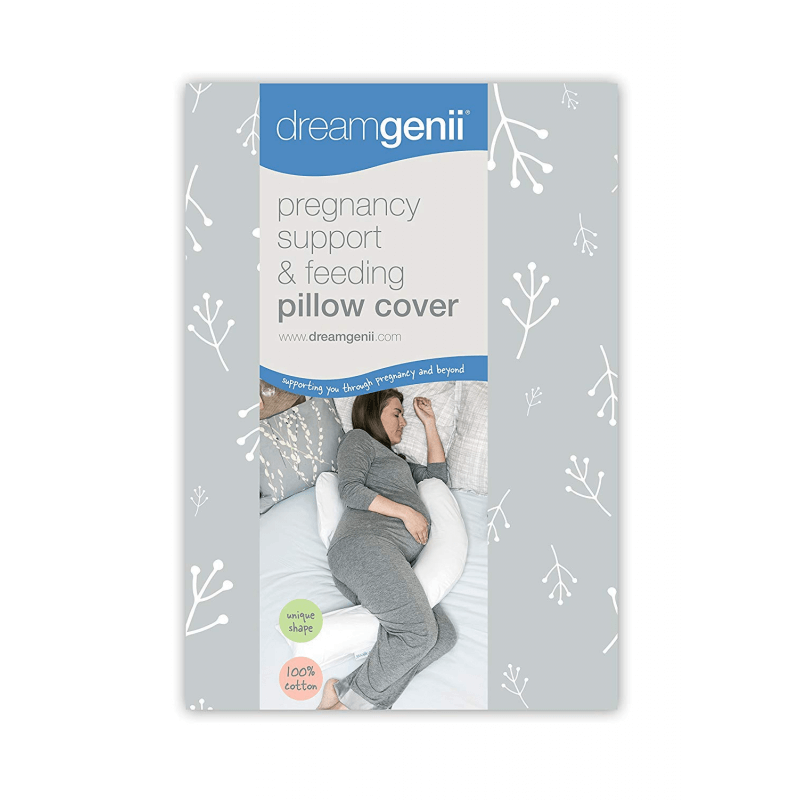 Dreamgenii Pregnancy Pillow Cotton Cover- Grey & White