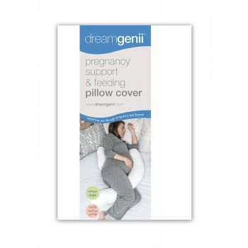 Dreamgenii Pregnancy Pillow Cotton Cover- White