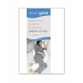 Dreamgenii Pregnancy Pillow Cotton Cover- White