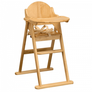 East Coast All Wood Folding Highchair