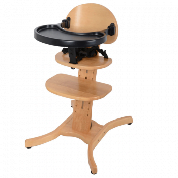 East Coast Curved multi-height Highchair - Natural