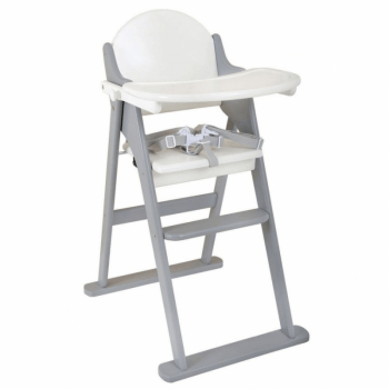 East Coast Folding Highchair White & Grey
