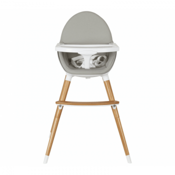 Koo-Di Duo Wooden Highchair - Grey and Beech