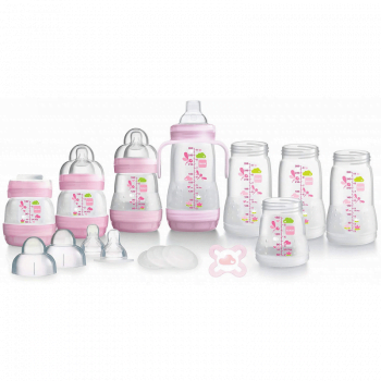 MAM Anti-Colic Self Sterilising Bottle Starter Set - Pink