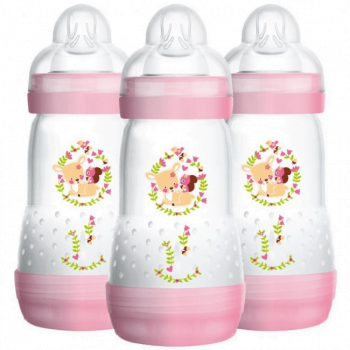 MAM Easy Start Anti-Colic Bottle 260ml 3 Pack - Girl