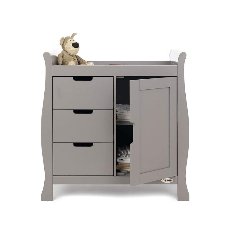 38d2dc76bdda Obaby Stamford Sleigh Changing Unit -Taupe Grey | Olivers BabyCare