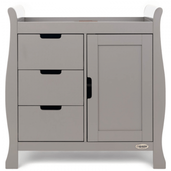 Obaby Stamford Sleigh Closed Changing Unit -Taupe Grey 2