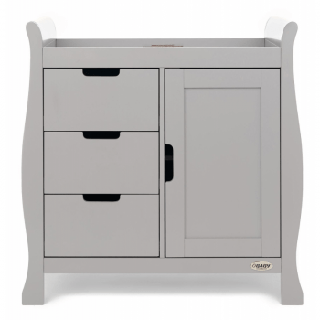 Obaby Stamford Sleigh Closed Changing Unit -Warm Grey