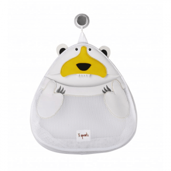 3 Sprouts Bath Storage - Polar Bear
