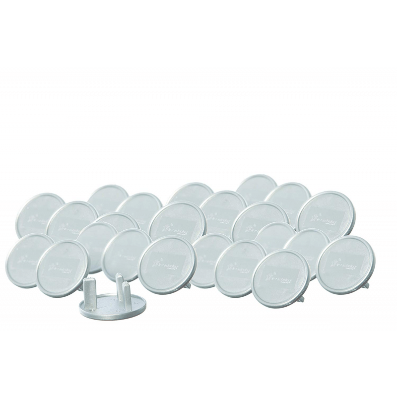 Dreambaby Silver UK Plug Socket Covers 2
