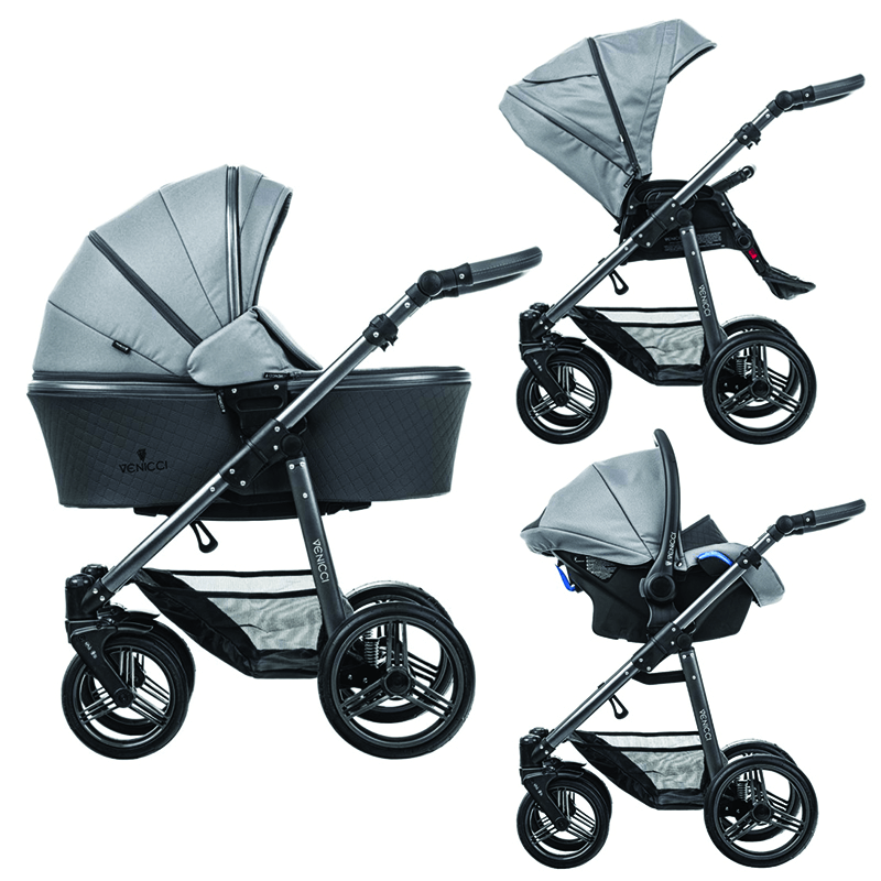 Venicci Carbo Lux 3 In 1 Travel System Natural Grey