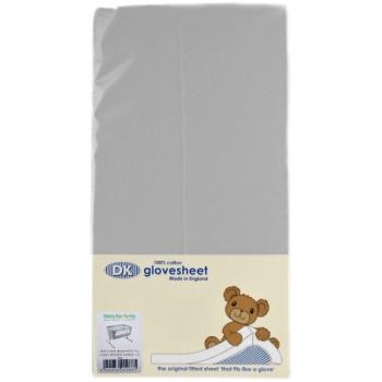 DK GloveSheet Chicco Next 2 Me Mattress Sheet - Grey