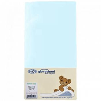 DK GloveSheet Chicco Next 2 Me Mattress Sheet - Sky Blue