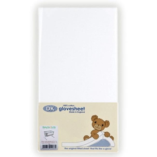 DK GloveSheet Chicco Next 2 Me Mattress Sheets - White (2 Pack)