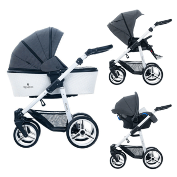 Venicci Pure 3 in 1 Travel System – Denim Black
