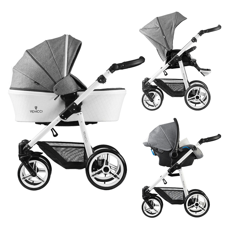 Venicci Pure 3 in 1 Travel System – Denim Grey