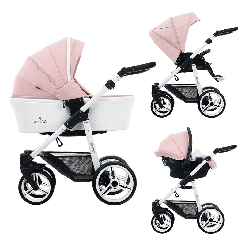Venicci Pure 3 in 1 Travel System - Rose