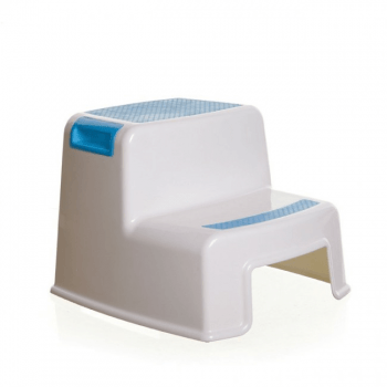 Dreambaby 2 Height Step Stool - White & Blue