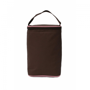JL Childress Tall TwoCool 2-Bottle Cooler - Cocoa & Pink 1
