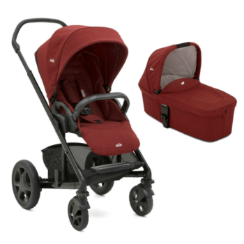 Joie Chrome DLX & Carrycot - Cranberry 8
